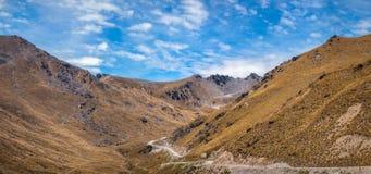 La partie supérieure de la route de Queenstown à Ski Area remarquable photographie stock