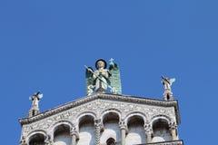 La partie supérieure de San Michele in foro - Roman Catholic Churc photos libres de droits