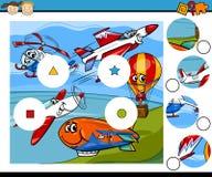 La partita collega il fumetto del gioco Fotografia Stock Libera da Diritti