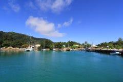 La Passe, La Digue, Seychellen Stockbilder