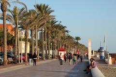 La passeggiata a Almeria, Spagna Immagini Stock