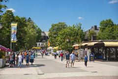 La passeggiata in Titisee-Neustadt Fotografia Stock