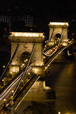 La passerelle à chaînes à Budapest, Hongrie Images libres de droits