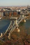 La passerelle à chaînes à Budapest photo libre de droits