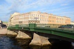 La passerelle au-dessus du canal de Fontanka Image libre de droits