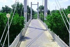 La passerelle au-dessus du fleuve Photo libre de droits