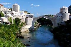 La passerelle célèbre de Mostar Image libre de droits