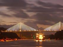 La passerelle Centenario dans la république Panama Photographie stock libre de droits