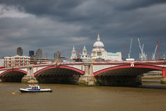 La passerelle de Blackfriar, Londres Photo stock