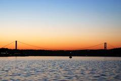 La passerelle de Bosphorus Photos libres de droits