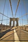 La passerelle de Brooklyn Photos libres de droits