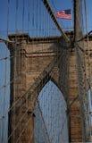 La passerelle de Brooklyn Image libre de droits