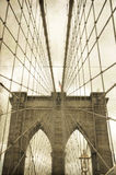 La passerelle de Brooklyn photographie stock