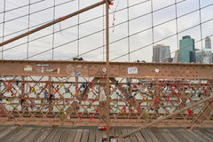 La passerelle de Brooklyn Photographie stock libre de droits