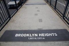 La passerelle de Brooklyn célèbre Photo libre de droits