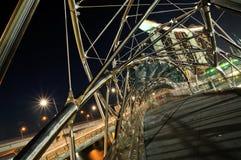 La passerelle de Double-Helice, Singapour Images stock