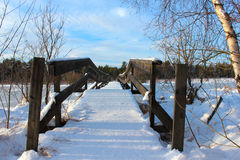 La passerelle de l'hiver photo stock