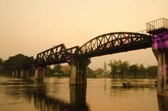 La passerelle du kwai de fleuve Image libre de droits
