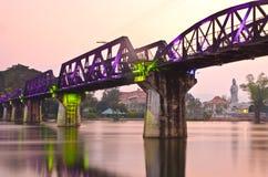 La passerelle du kwai de fleuve Photos libres de droits