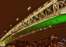 La passerelle par Moscow-river-3 Images libres de droits