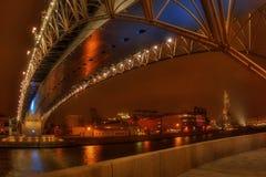 La passerelle par Moscow-river-4 Photographie stock