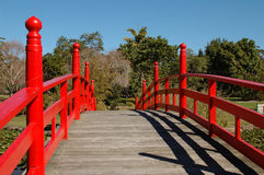 La passerelle rouge photographie stock