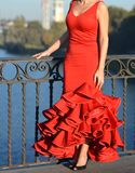 La passion rouge de robe Photo libre de droits