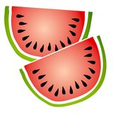 La pastèque découpe le clipart (images graphiques) en tranches illustration stock