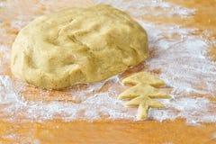 La pasta per il biscotto dello zenzero Fotografia Stock Libera da Diritti