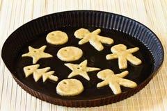 La pasta per il biscotto dello zenzero Fotografie Stock Libere da Diritti