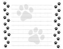 La pata imprime la frontera stock de ilustración