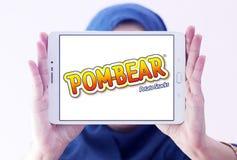La patata di POM-BEAR fa un spuntino il logo di marca Immagini Stock Libere da Diritti