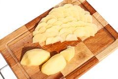 La patata en la tarjeta Fotografía de archivo