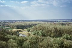 La patria del pittore russo famoso Repin fotografia stock libera da diritti