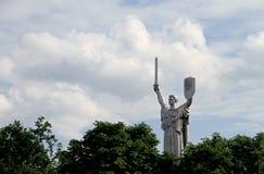 La patria della scultura del monumento Kiev, Ucraina, museo Immagine Stock