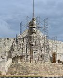 La Patria Merida. This is a picture of la Patria Merida, the Monument of the Homeland under cleaning and repair located in Merida, Mexico on the Yucatán royalty free stock photos