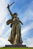La patrie appelle le monument Mamayev complexe commémoratif Kurgan à Volgograd photographie stock libre de droits