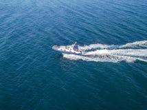 La patrouille de mer de bateau de canot automobile de garde de sécurité de côte de délivrance a isolé c photos stock