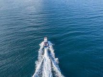 La patrouille de mer de bateau de canot automobile de garde de sécurité de côte de délivrance a isolé v photographie stock