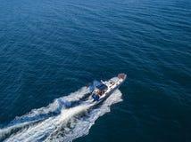 La patrulla del mar de la nave del barco de motor del guardia de seguridad de la costa del rescate aisló v imágenes de archivo libres de regalías