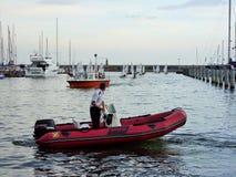 La patrulla en el barco Foto de archivo libre de regalías