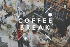 La pause d'arrêt de café de café de coupure détendent le concept de repos images libres de droits