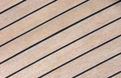 La pavimentazione del primo piano dell'yacht Immagine Stock