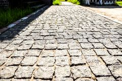 La pavimentazione di pietra dei blocchi fotografia stock