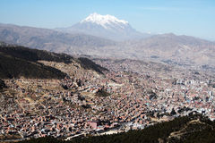 La paz. The valley of La Paz city Stock Image