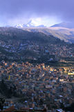 La Paz. In distance- dwarfed by Andes mountains Royalty Free Stock Image