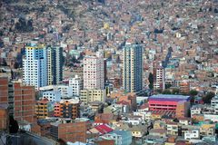 La Paz. The actual capital of Bolivia, where most of the state institutions and the residence of the President of the country, although the constitutional Stock Photography