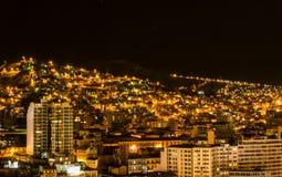 La Paz alla notte, Bolivia Fotografie Stock