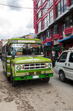 La Paz, Bolivia - August 16: Taxi Car Traffic, Bolivia,2015 Royalty Free Stock Images