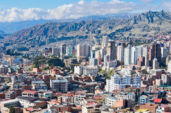 La Paz, Bolivia. Cityscape of La Paz in Bolivia stock photo